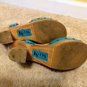 b1718f85210d Kork-Ease Shoes - Korks leather chunky heel platform shoes sz 9
